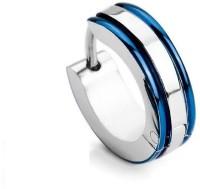 Vaishnavi First Quality Good Finishing Shining Blue Stripe Titanium Non-Allergic 316l Surgical Stainless Steel Huggie Earring