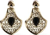 The Fine World Gold Cutwork Zircon Metal Drop Earring