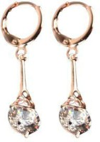 ACW Rose Gold Plated White Sapphire Stone Dangle Earrings For Women Alloy Drop Earring