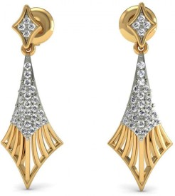 Rasav Jewels Sparkle 18 K Diamond Gold Drop Earring