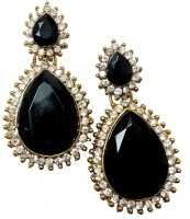 Glittering World Designer Black Stone Alloy Drop Earring
