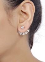 Shining Diva Bollywood Fashion Cubic Zirconia Metal Cuff Earring