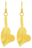 Style Fiesta Deco Heart Earrings Alloy Drop Earring