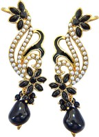 Surat Diamond Angel Of The Night Yellow Gold Plated Pearl Metal Cuff Earring
