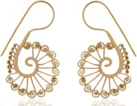 ZeroKaata Peacock Brass Dangle Earring