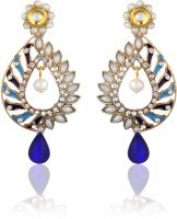Zaveri Pearls Diamond Alloy Drop Earring