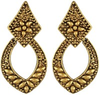 Crazytowear Golden Metal Drop Alloy Earring  K Alloy Dangle Earring