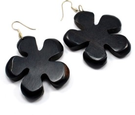 Silvesto India 869 Wood Dangle Earring