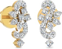 WearYourShine By PCJ The Zurafa 18 K Diamond Gold Stud Earring