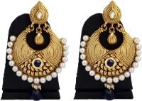 Hotpiper Golden Royal Pearl Crystal Pearl Alloy Chandbali Earring