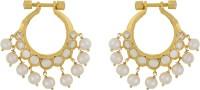 Alyza Pearls Golden Zircon Pearl Silver Chandbali Earring