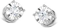 CaratLane Twinkle Solitaire 18K White Gold 18 K Diamond Gold Stud Earring