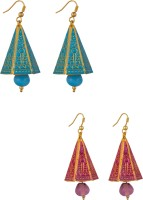 Makezak Jaipuri Meenakari Brass Dangle Earring