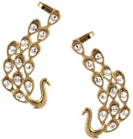 The Jewelbox Diamond Peacock Ear Cuff Yellow Gold Copper Cuff Earring