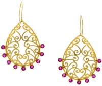 Pearls Cart Ad Stone Studded Peacock Theme Style Alloy Drop Earring - ERGEDKRQ2GYQMTKG
