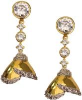 Beingwomen Elegant Gold Plated Stone Studded Fashion Alloy Jhumki Earring