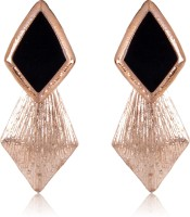 Cinderella Collection By Shining Diva Golden & Black Fashion Alloy Stud Earring