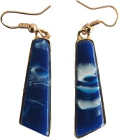 Veinice Er913 Blue Rectang Alloy Dangle Earring