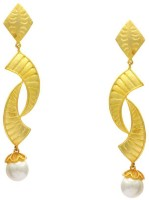 Pearls Cart Ad Stone Studded Peacock Theme Style Alloy Drop Earring - ERGEDKRQADSTMUHF