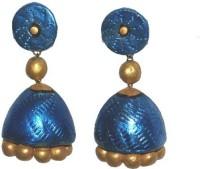 Aanya Creations Handmade Terracotta Jewellery Ceramic Jhumki Earring