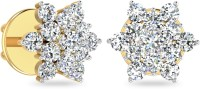 WearYourShine By PCJ The Isabis 18 K Diamond Gold Stud Earring