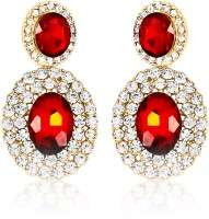 Big Tree Cleo 18K Yellow Gold Plated Crystal Alloy Drop Earring