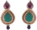 Chokers & Charms Beautiful Big Stone Metal Chandelier Earring - ERGDW8B3UK3P3V4Z