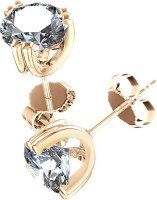 Aiza Spring Sparkle 18K Yellow Gold Plated 18 K Diamond Gold Stud Earring