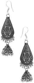 FACTORYWALA EXCLUSIVE PAIR OF OXIDIZED DROP Alloy Jhumki Earring