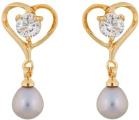 Classique Designer Jewellery Heart Shape Alloy Drop Earring