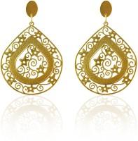Sarah Drop Filigree Design Metal Drop Earring
