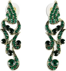 The Fine World Stone With Contemporary Design Zircon Metal Drop Earring