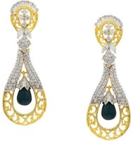 Pearls Cart Ad Stone Studded Peacock Theme Style Alloy Drop Earring - ERGEDKRQKWWYSW5V