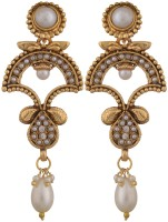 Sixmeter Sixmeter Jewels Golden Pearl Dangle & Drop Earrings For Women (Mj-Er-319) Alloy Earring Set