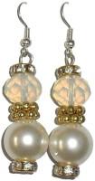 Beadworks Alloy, Acrylic, Glass Dangle Earring