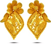 P.N.Gadgil Jewellers Hopeful Floral 22 K Gold Stud Earring