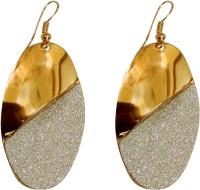Tera Multisales Oval Shape Gold Look Metal Dangle Earring