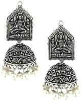 The Jewelbox Antique Lakshmi Brass Jhumki Earring