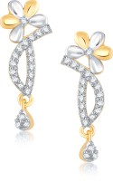 VK Jewels Floral 18K Yellow Gold Plated Cubic Zirconia Alloy Drop Earring