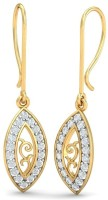 Aurobliss.com Artistic Eye 18 K Cubic Zirconia Yellow Gold Dangle Earring