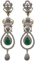 Sheetal Jewellery 18K Yellow Gold Plated 18 K Cubic Zirconia Brass, Alloy Drop Earring