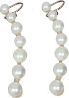 ToniQ Pearl Plastic Cuff Earring