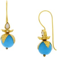 Pearls Cart Ad Stone Studded Peacock Theme Style Alloy Drop Earring - ERGEDKRQ959QKYS6