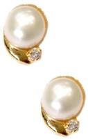 Sri Kapi Pearls Yellow Gold K Pearl Alloy Stud Earring