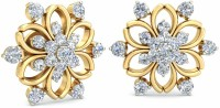 WearYourShine By PCJ The Chiara Floral Diamond Gold 18 K Stud Earring