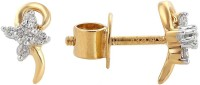 Nakshatra Spring Sparkle 14K Yellow Gold Plated 14 K Diamond Gold Stud Earring