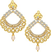 Sukkhi Ritzy Gold Plated American Diamond Alloy Drop Earring