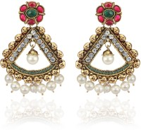 Zaveri Pearls Classic Indian Brass Alloy Drop Earring
