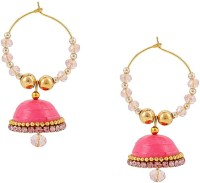 Halowishes Elegant Look With Clip-on Earring Hancrafted Baali Jhumka Paper Clip-on Earring