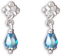 Milan Aqua Drop Silver Drop Earring